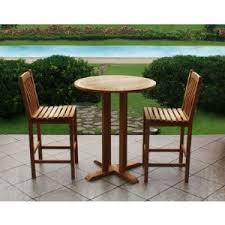 High Bistro Table Set Outdoor Crestwood Garden Collection 3 Teak High Bistro Set Teak