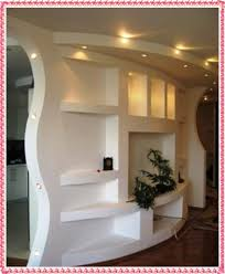 image result for half room divider custom drywall entertainment