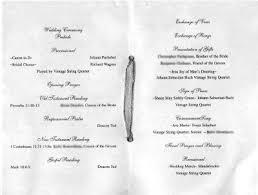 Example Of Wedding Program Wedding Ceremony Programs Layout Wedding Invitation Sample