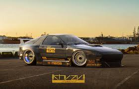 stanced rx7 artstation ks rx7 khyzyl saleem