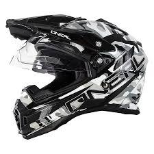 motocross bike helmets oneal 2018 sierra dual sport helmet sniper black white motocross