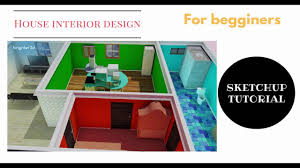 sketchup house interior and exterior design tutorial youtube