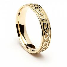 celtic wedding ring engraved celtic knot wedding ring 14k yellow or white gold