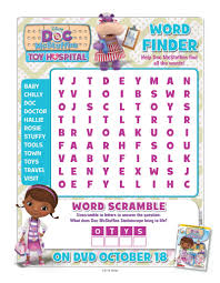 doc mcstuffins word search activity page mama likes this
