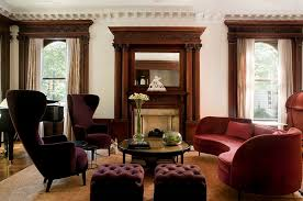 Small Wingback Chair Design Ideas Awesome Image Of Curved Sofa Coupled With Tom Dixon Wingback
