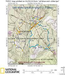 Oak Mountain State Park Trail Map by Csf Blueandwhite Jpg