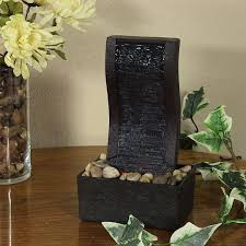 Water Fountain Home Decor Amazon Com Sunnydaze Curved Stream Tabletop Fountain 10 Inch