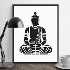 aliexpress com buy india modern minimalist zen buddha portrait