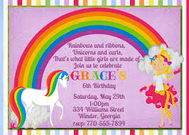 Princess Themed Birthday Invitation Cards Rainbow Birthday Invitations Kawaiitheo Com