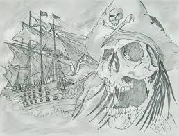 ionel grozavu artwork pirate ship original drawing pencil