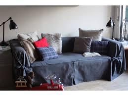 couvre canapé 3 places housse de canapé bachette 3 places 100 coton à nouettes