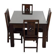 Teak Dining Room Chairs Teak Dining Room Set Used Best Gallery Of Tables Furniture