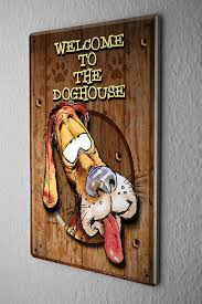 amazon com decorative tin sign funny signs welcome to the dog