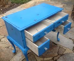 Shabby Chic Blue Paint by Vintage Spoon Foot Desk In Chalk Paint Saphire Blue