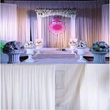 wedding backdrop panels 2 4x1 5m white sheer silk drapes panels hanging curtains photo