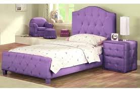 Twin Bed Upholstered Headboard by Bedroom Diva Upholstered Twin Bed With Headboard Footboard Purple