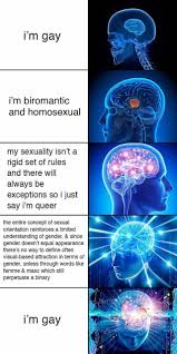 Brain Meme - i m gay expanding brain know your meme
