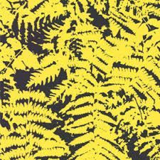 fern yellow fern wallpaper design little greene