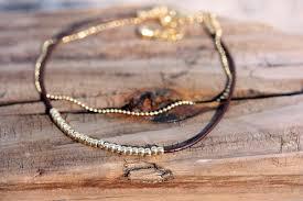 beaded bracelet leather images Dainty beaded bracelet by diament designs etsy finds handmade jpg