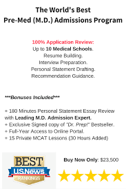 Pre Med Resume Medical Admissions Experts 1 Ranked Pre Med Consultants