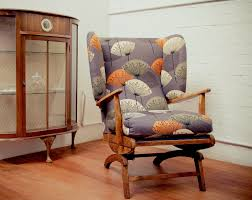Upholstered Rocking Chair With Ottoman Furniture Rocking Chair Upholstered Armchair Chairs For