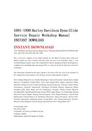 1991 1998 harley davidson dyna glide service repair workshop manual i u2026