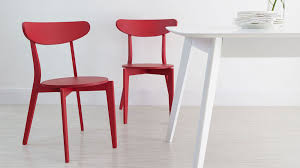 Red Dining Chair Colourful Kitchen Chairs Bright Painted Wood Only 45 Uk