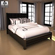 Low Headboard Beds by 3d Model Ashley Diana Queen Upholstered Headboard Bed Vr Ar