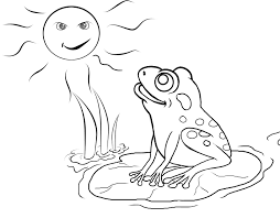 free frog coloring pages print color