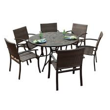 Round Dining Table With Armchairs Tile Patio Furniture Shop The Best Outdoor Seating U0026 Dining