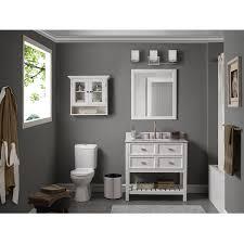 White 36 Bathroom Vanity by Scott Living Canterbury White 36 In Single Sink Poplar Bathroom