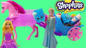 disney frozen queen elsa barbie princess shopkins 12 pack unboxing