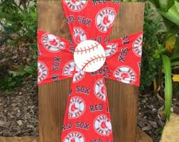 Boston Red Sox Home Decor Red Sox Decor Etsy