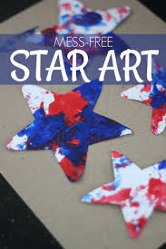 mess free patriotic star painting kid for kids and painting for