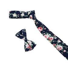floral bowtie floral ties and bowtie set mens cotton flower necktie bow