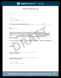 Rent Increase Letter Ma form to increase rent city espora co