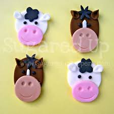 farm cake toppers www sugareduptoppers barnyard fondant cupcake toppers by