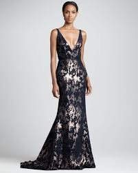 j mendel abstract metallic gown navygold in black lyst