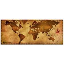 Old World Pictures by Metal Art Studio Old World Map Large Indoor Outdoor Modern