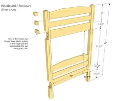 Wood Twin Loft Bed Plans by Bunk Bed Plans