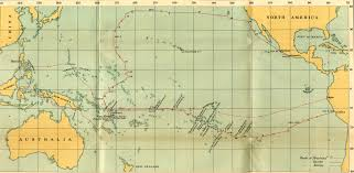 Christopher Columbus Route Map by