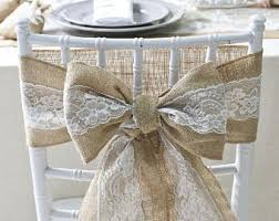 wedding chair bows burlap chair sash etsy