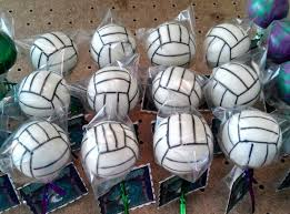 volleyball cake pops teezerts cake pops pinterest volleyball