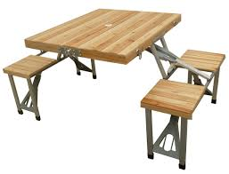 Folding Wood Picnic Table Wooden Seats Images Mannagum Folding Picnic Table Set With Wooden