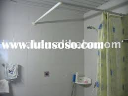 Ceiling Curtain Rods Ideas Ceiling Mounted Corner Shower Curtain Rod Aminm Aoy Bathrooms