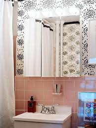 Pink And Grey Shower Curtain by Reasons To Love Retro Pink Tiled Bathrooms Hgtv U0027s Decorating