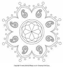diwali colouring pages