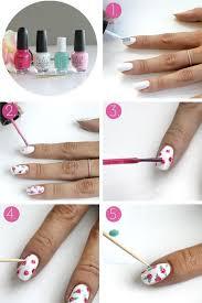n gel selber designen nagel design frühling zeichnen anleitung nailart