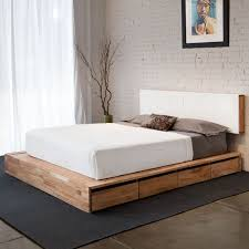 Platform Bed Frame With Storage Plans by Best 25 Wooden Bed With Storage Ideas On Pinterest Wooden
