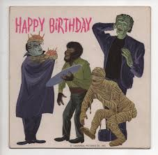 vintage universal monsters birthday record search happy